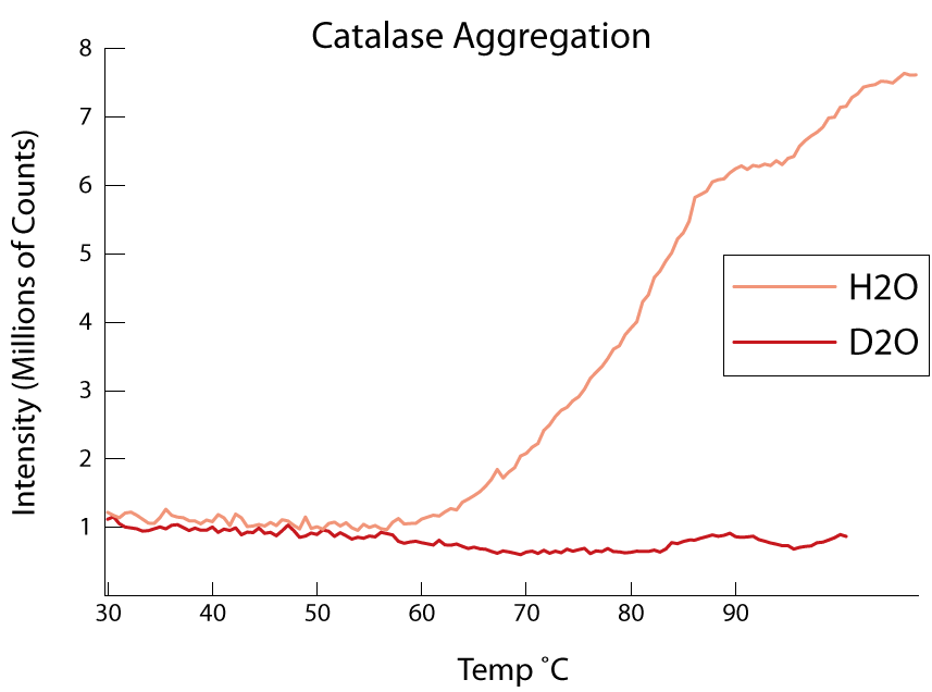 Plot of catalase aggregation
